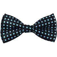 Bullidea Men's Pure Plain Bowtie Adjustable Dots Pre Tied Bow Tie for Wedding Party Polyester