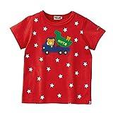 (ミキハウス)ホットビスケッツ 星柄&水玉柄 キャラクター半袖Tシャツ (100cm, 赤(02))