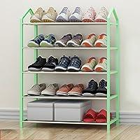 Hyun times 靴ラック64 * 28 * 80センチメートル多層アセンブリ家庭学生寮ライト現代的なシンプルなストレージラック ( 色 : 緑 )