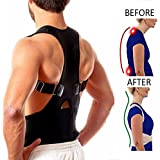 Neoprene Magnetic Posture Corrector Bad Back Support Lumbar Belt Shoulder Brace (L)
