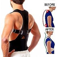 Neoprene Magnetic Posture Corrector Bad Back Support Lumbar Belt Shoulder Brace (L)