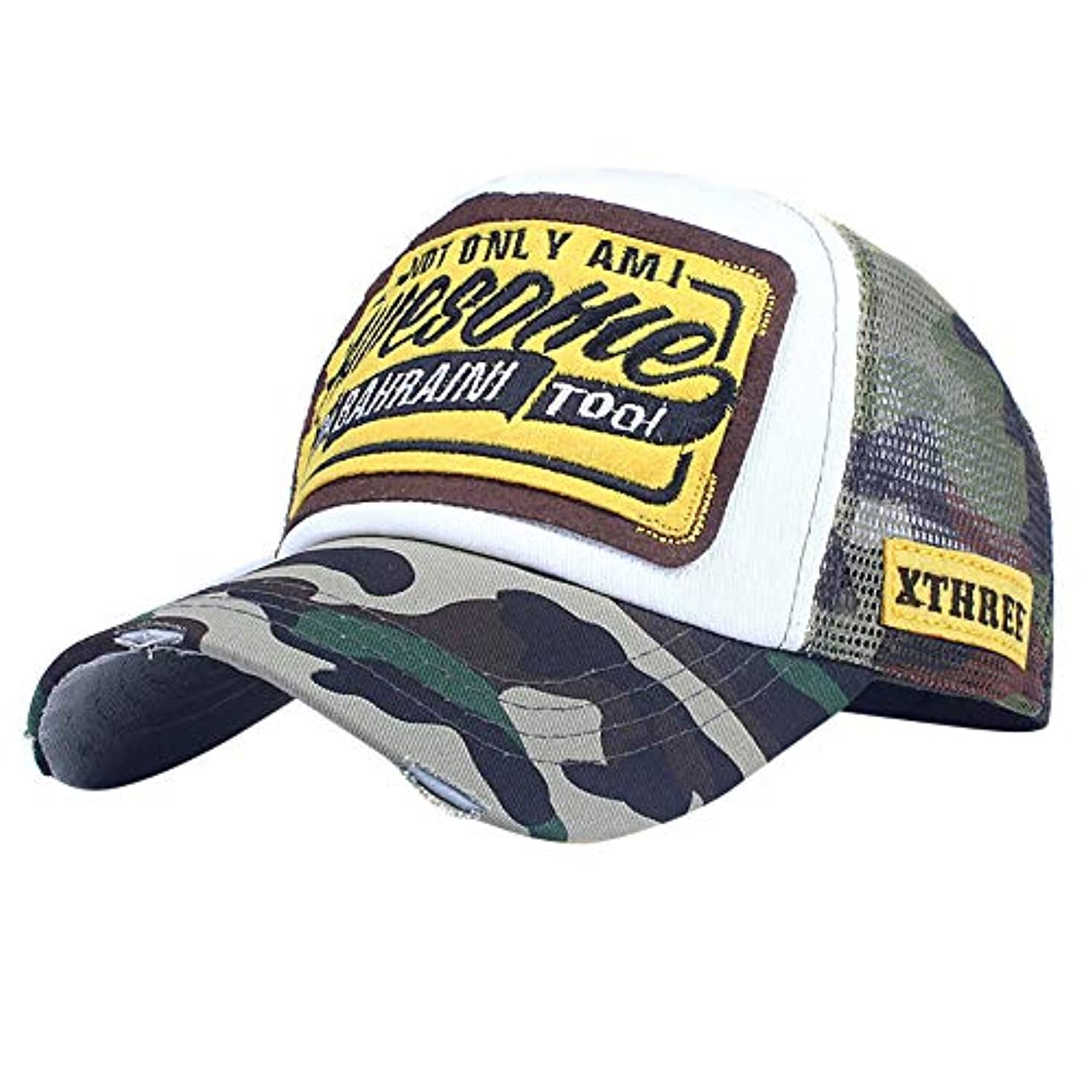 見つけるガード恐竜Racazing カモフラージュ 野球帽 ヒップホップ メンズ 夏 登山 帽子 迷彩 可調整可能 プラスベルベット 棒球帽 UV 帽子 UVカット軽量 屋外 Unisex 鸭舌帽 Hat Cap