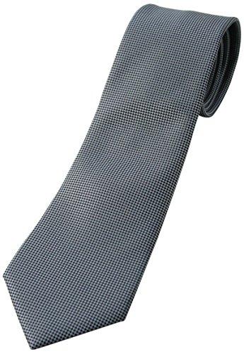(フェアファクス) FAIRFAX グレー系、無地ネクタイ シルク100% バスケット織り mj5511