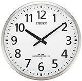 シチズン 掛け時計 電波 大型 アナログ 高感度 スリーウェイブM839 グリーン購入法 適合商品 オフィス モデル ステンレス 銀色 CITIZEN 4MY839-019