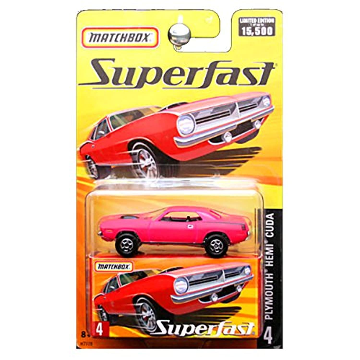 2005 Matchbox Superfast Plymouth Hemi Cuda Bright Pink #4 by Mattel