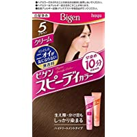 ホーユー ビゲン スピィーディーカラー クリーム 5 (ブラウン) 1剤40g+2剤40g