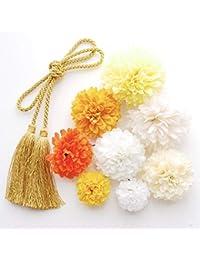 【選べる 10色展開】マムの髪飾りセット 着物 浴衣 卒業式 和装 袴 成人式 結婚式 七五三にC
