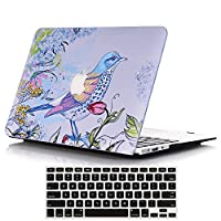 lykokoマットプラスチックハードケースカバーでキーボードカバーfor MacBook Air 13インチ(モデル: a1369and a1466) Macbook Air 13 A1369 A1466 ブルー