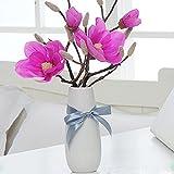 VANCORE フラワーベース 花器 花瓶 一輪挿し 陶器 ストライプ白