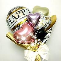 HAPPY Anniversary バルーンブーケ ダマスク柄 記念日や発表会などに