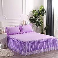 レース ベッド スカート,ほこり しわ ベッド カバー プリンセス風 フィット バランス エキストラ ベッド-D 150x200cm