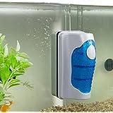 JRing Magnet Aquarium Cleaner, Algae Scraper for Glass Aquariums Aquatic Algae Cleaning Fish Tank Glass Cleaner (Large)