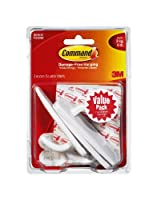 Command Large Plastic Hooks Value Pack, 6-Hook by Command