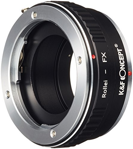 K&F Concept レンズマウントアダプター KF-QBMX (ローライQBMマウントレンズ → 富士フィルムXマウント変換)