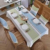Lts テーブルクロス、混合綿のテーブルクロス、格子長方形のテーブルクロス、牧歌的なテーブルクロス、文芸茶テーブルクロス、居間のテーブルクロス、ピクニッククロス、北欧スタイル (サイズ : 130*130cm)