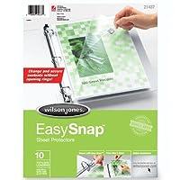 Easysnap Sheet Protector, 10/Pack (並行輸入品)