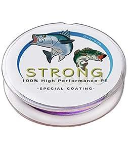 オルルド釣具 PEライン 4X 釣り糸 高飛距離/高強度/高感度/低伸度設計 ハイパフォーマンスPE「STRONG1000(ストロング1000)」 4X 4本編み 1000m/5色(10mごと)/0.4号 qb200022c04n0