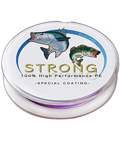 PEライン「STRONG」 4X 6カラー(5色マルチカラー/ホワイト/イエロー/モスグリーン/ブラック/レッド) / 6サイズ(100m/150m/200m/300m/500m/1000m) / 15種(0.4/0.6/0.8/1.0/1.