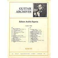 [冊子][楽譜]GUITAR ARCHIVES Andres Segovia No.156 Couperin PASSACAGLIA アンドレス・セゴビア