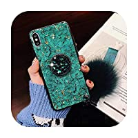 for Samsung Not10Plus S10P TPU for iphone 11 Pro MAX 6 6sPlus 8Plus 7 Plus DIYクリスタルホルダー+ファーボール+ストラップ電話ケース-3-for for iphone XR