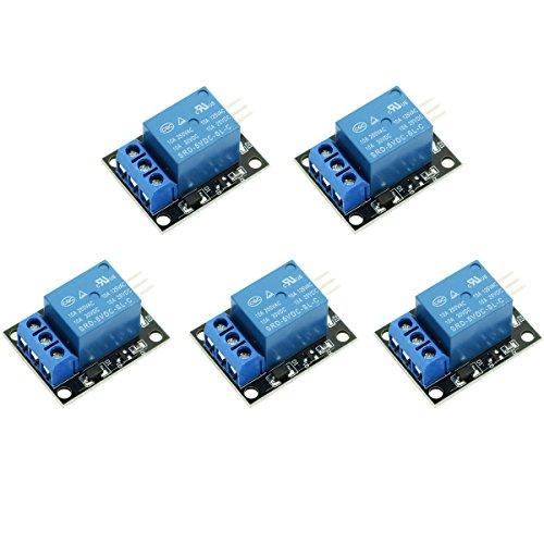 WINGONEER 5PCS KY-019 Arduinoリレー用PIC AVR DSP ARM用5V 1チャンネルリレーモジュール基板シールド