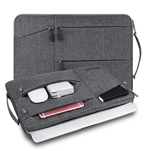 WIWU 裏起毛 PCインナーバッグ 360°保護 12/13.3/15.6インチ 衝撃吸収 防水 pcケース ノートパソコンケース MacBook Air 13/MacBook Pro 13/surface pro/ThinkPad/Dynabook/Chromebook/ラップトップ/ウルトラブック用 PCバッグ (13.3inch グレー)