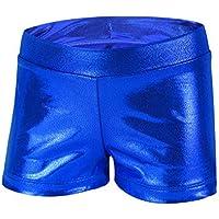 ZukoCert Girls Sparkle Dance Tumbling Athletic Gymnastics Glitter Short Pants 3-10 Years