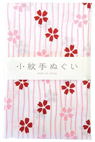 宮本 小紋手ぬぐい 縞さくら 33×90cm 33043