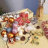 JWWOZ クリスマスデコレーション、クリスマス粉砕耐性クリスマスツリーデコレーションハンギングボールホリデーウェディングパーティーデコレーション