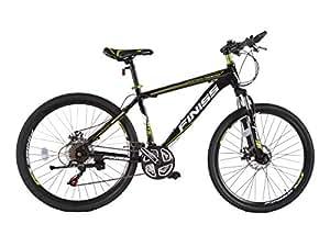 SHINEWOOD 自転車 26インチ マウンテンバイク MTB フロントサスペンション シマノ21段変速(ブラック&グリーン)