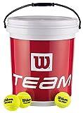 Wilson(ウイルソン) テニス ノンプレッシャーボール 72球(専用バケツ入り) WRT131200