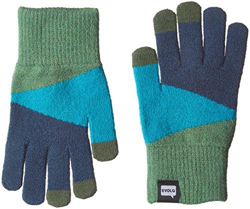 (エヴォログ)Evolg TORI-CO2 液晶タッチ対応手袋 LET 2315  GREEN×EMERALD×BLUE Free