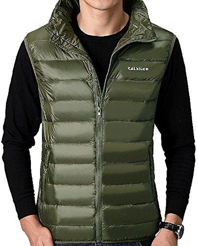 [해외]다운 베스트 남성 GXTeng 캐주얼 다운 베스트 따뜻한 재킷 조끼 서 칼라 얇고 가벼운 겨울 방한 무지 민소매 다운 쟈켓/Down best men`s GXTeng casual down vest warm jacket best standing collar thin and light winter cold weather plain sleev...