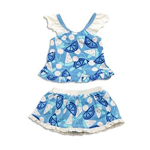 ampersand(アンパサンド) Girl'sフルーツ柄セパレート水着_UVカット ブルー 130cm