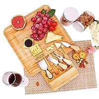 VPCOK 竹製チーズボード ナイフ付き 新築祝い 結婚式 記念日のギフトに最適