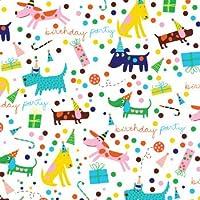 barkday dog birthday party gift wrap flat sheet 24 x 6 holiday