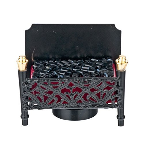 ドールハウスミニチュア乾電池式暖炉ストーブ...