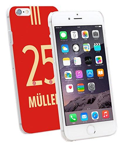 00815 - トーマス ミュラー : バイエルンミュンヘン レッド デザイン 【平日:翌営業日発送・土日注文:月曜日・連休日:業務開始日発送+液晶保護フィルム1枚プレゼント】 iPhone5 5S SE 6 6S Plus Xperia Z3 Z4 Z5 X PERFORMANCE GALAXY S5 S6 S7 Edge スマホケース (iPhone 6 /6S) [並行輸入品]