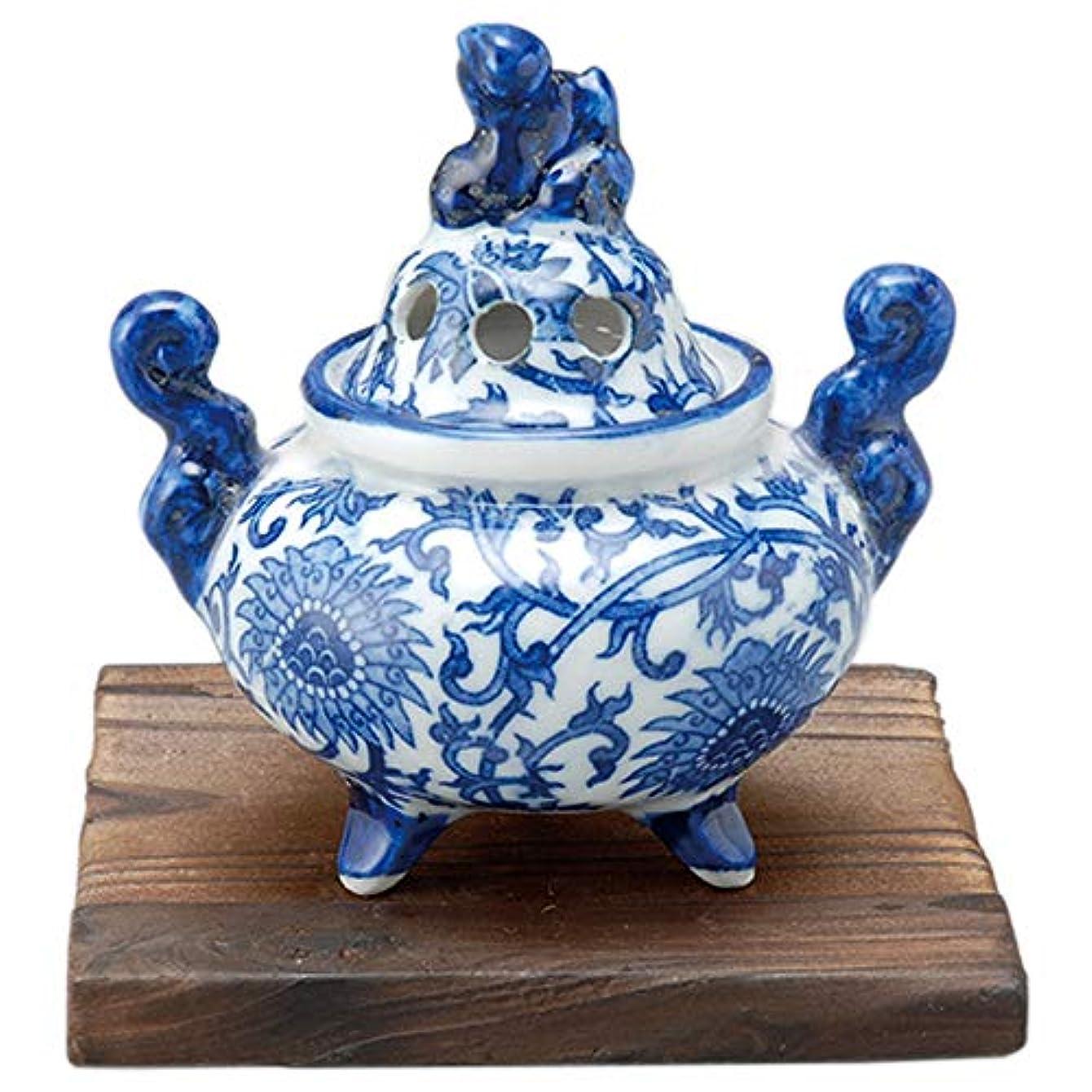 香炉 ルリ獅子 香炉(小) [8.5x6.5xH10cm] プレゼント ギフト 和食器 かわいい インテリア