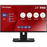 "ViewSonic VG2455 24"" IPS 1080p Monitor with USB 3.1 