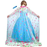 [リリーアンドビーノベルティ]Lilly and the Bee Novelties Frozen Fever Inspired Elsa Shimmering Spring Cape with Let It Go Band [並行輸入品]