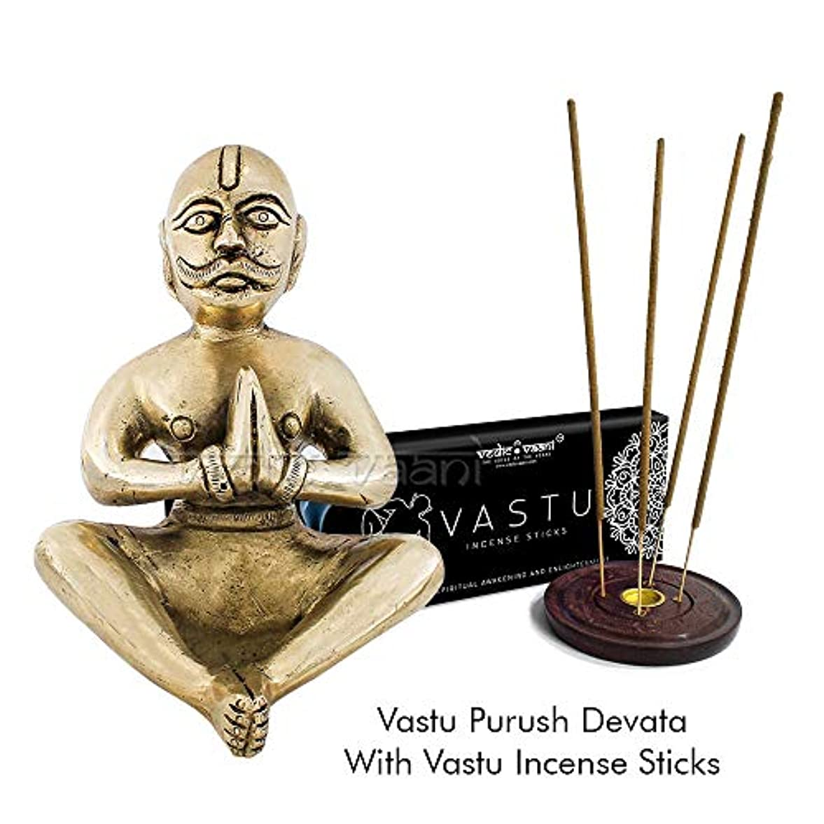侵略損失一見Vedic Vaani Vastu Purush Devata Idol 香スティック付き