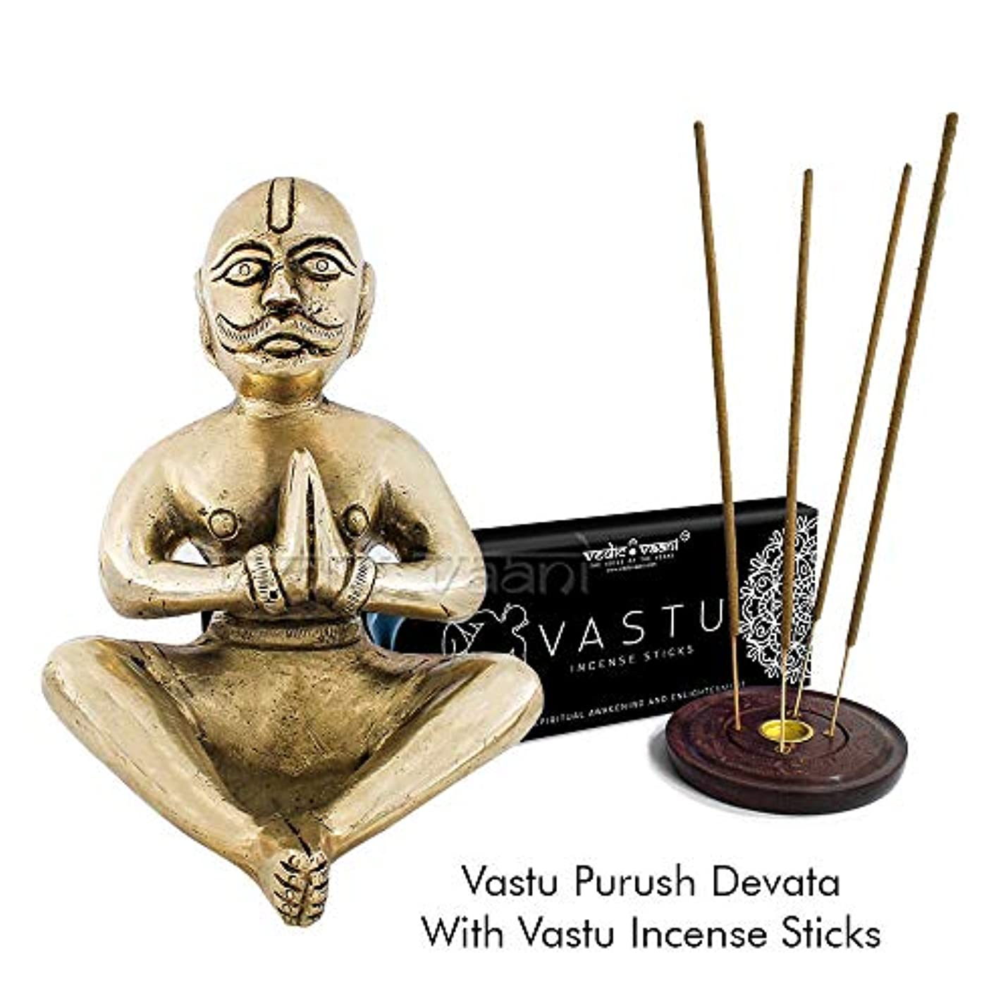 名前を作るパーチナシティ彼自身Vedic Vaani Vastu Purush Devata Idol 香スティック付き