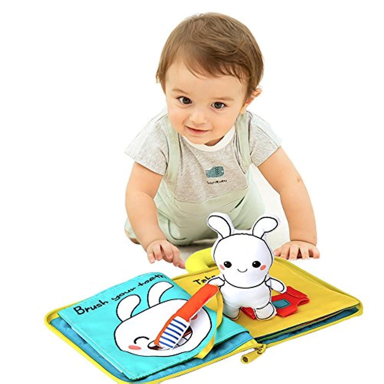 ウンチョン 布絵本 知育 英語 おでかけ 3D 立体 布 おもちゃ 教育玩具 幼児
