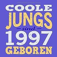 Coole Jungs sind 1997 geboren: Cooles Geschenk zum 22. Geburtstag Geburtstagsparty Gaestebuch Eintragen von Wuenschen und Spruechen lustig / Design: Spruch lustig Vintage Retro