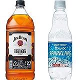ジムビーム 2.7L ペットボトル+ 南アルプス スパークリング 500ml×24本 セット