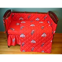 Ohio State 5 Pc Baby Crib Logo Bedding Set by College Covers