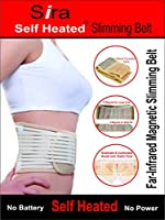 Sira Self Heated Tourmaline Magnetic Lumbar Support Slimming Belt for Men and Women (Beige, XL)