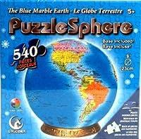 "TheブルーMarble Earth 540ピース3d球体パズル球状パズル9""直径"