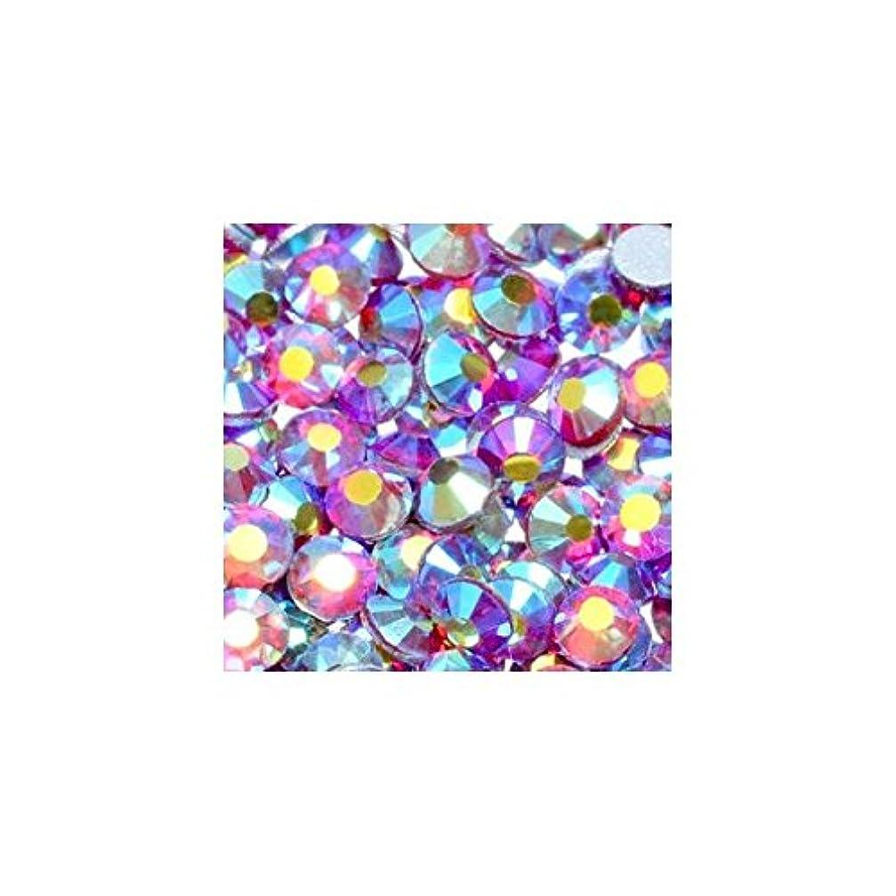 領域母性噂高品質クリスタルガラスラインストーン オーロラ ライトシャム Siam AB(SS6) 10Gross 約1440粒